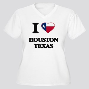 I love Housto Plus Size T-Shirt