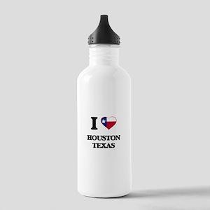 I love Houston Texas Stainless Water Bottle 1.0L
