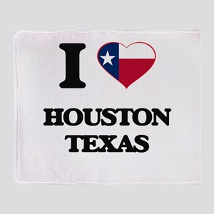 I love Houston Texas Throw Blanket