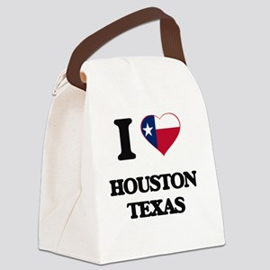 I love Houston Texas Canvas Lunch Bag