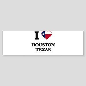 I love Houston Texas Bumper Sticker