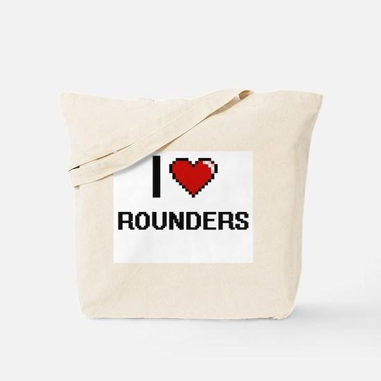 I Love Rounders Digital Retro Design Tote Bag