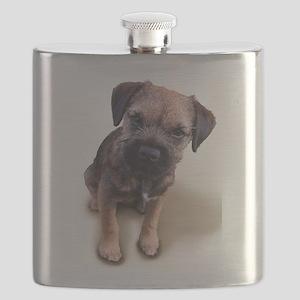 Border Terrier Boy Flask
