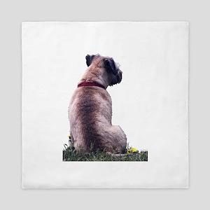 Border Terrier Watching Queen Duvet