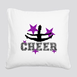 Cheerleader Square Canvas Pillow