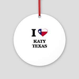 I love Katy Texas Ornament (Round)