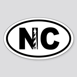 North carolina gifts cafepress north carolina inset lighthouse oval sticker negle Images