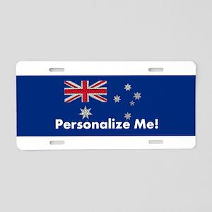Australian Flag Unique and Aluminum License Plate