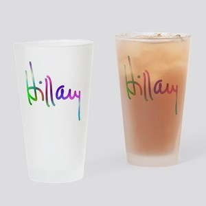 Hillary Rainbow Signature Drinking Glass