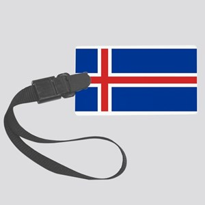Flag of Iceland Large Luggage Tag