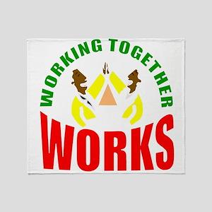 African American teamwork Throw Blanket