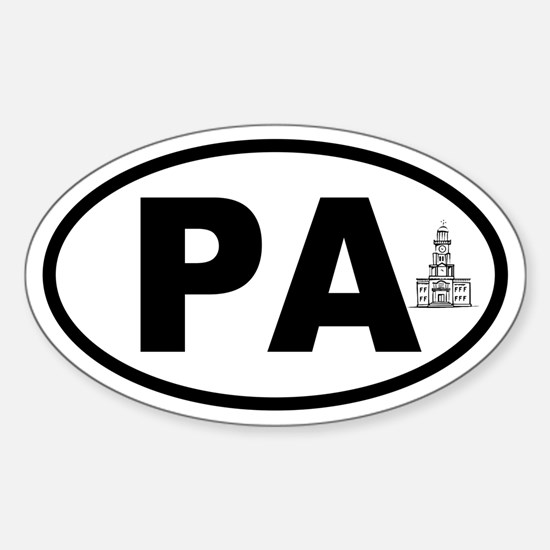 Pennsylvania Independence Hall Oval Decal