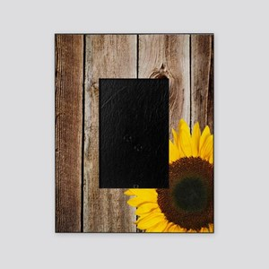 Rustic Barn Wood Sunflower Picture Frame