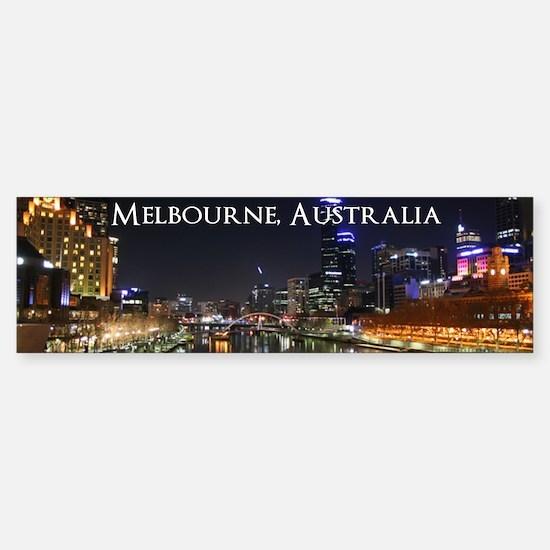Melbourne, Victoria Australia City Lights Yarra Ri