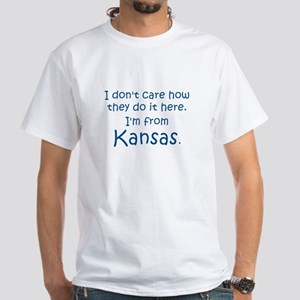 From Kansas White T-Shirt