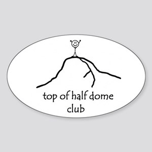 Top Of Half Dome Club Oval Sticker