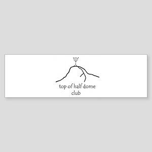 Top Of Half Dome Club Bumper Sticker