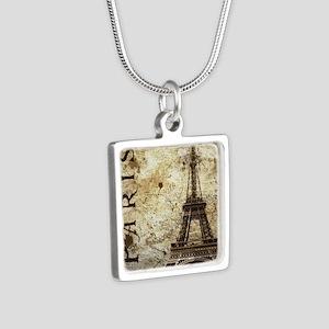 Paris Silver Square Necklace