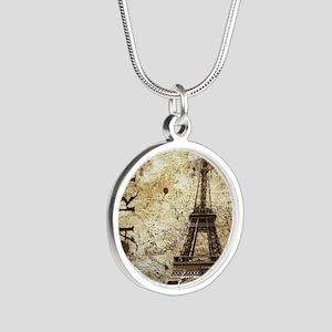 Paris Silver Round Necklace