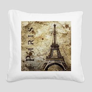 Paris Square Canvas Pillow