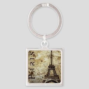 Paris Square Keychain
