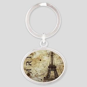 Paris Oval Keychain