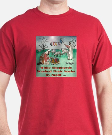 """WHILE SHEPHERDS WASHED..."" T-Shirt"