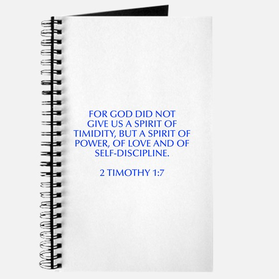 For God did not give us a spirit of timidity but a