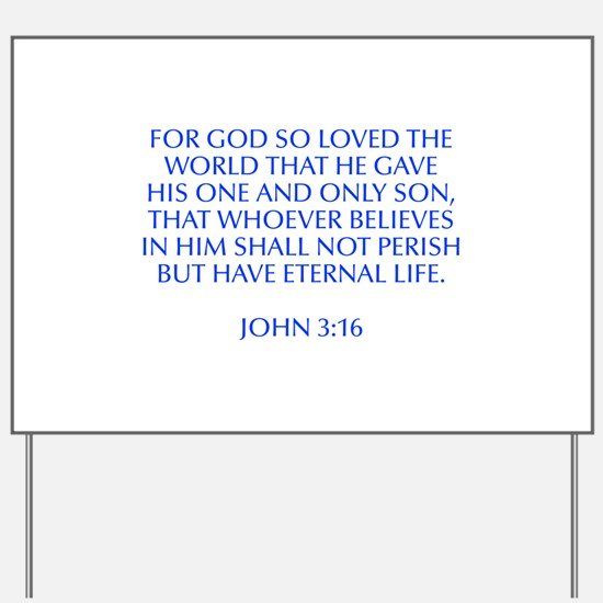 For God so loved the world that he gave his one an