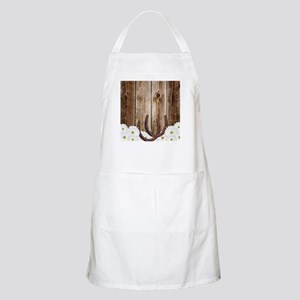 Rustic Barn Wood Horseshoes Apron
