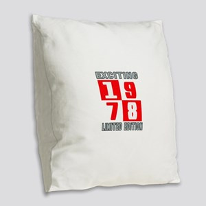 Exciting 1978 Limited Edition Burlap Throw Pillow