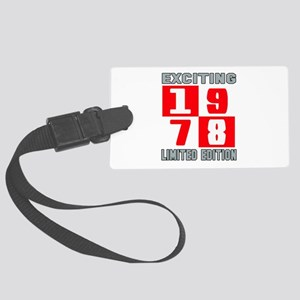 Exciting 1978 Limited Edition Large Luggage Tag