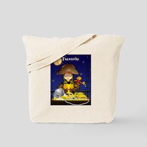 Pirate and Treasure Tote Bag