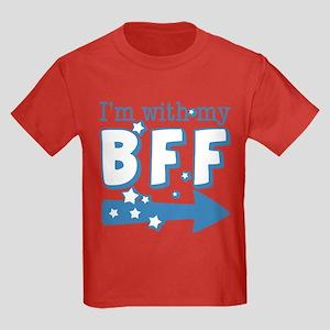 I'm with My BFF (RIGHT) Kids Dark T-Shirt