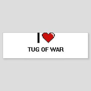 I Love Tug Of War Digital Retro Des Bumper Sticker