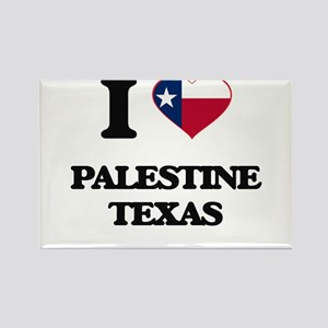 I love Palestine Texas Magnets