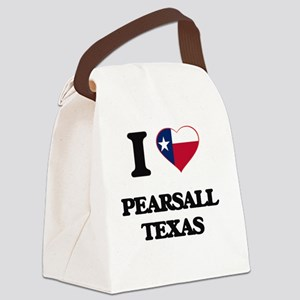 I love Pearsall Texas Canvas Lunch Bag