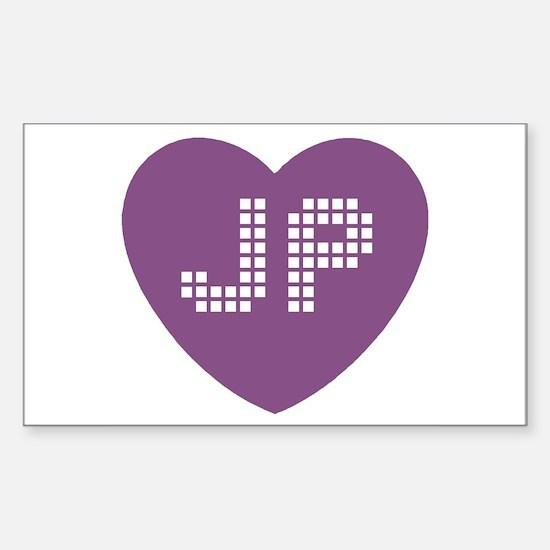JP Heart Decal