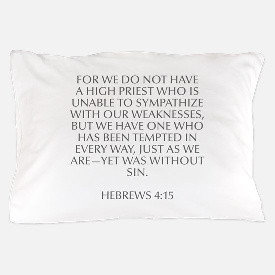 For we do not have a high priest who is unable to