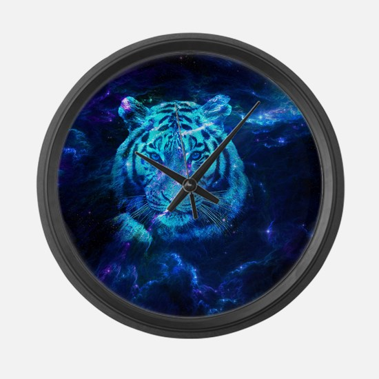 Unique Blue cat Large Wall Clock