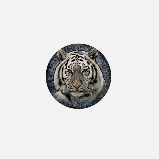Cute White tiger Mini Button