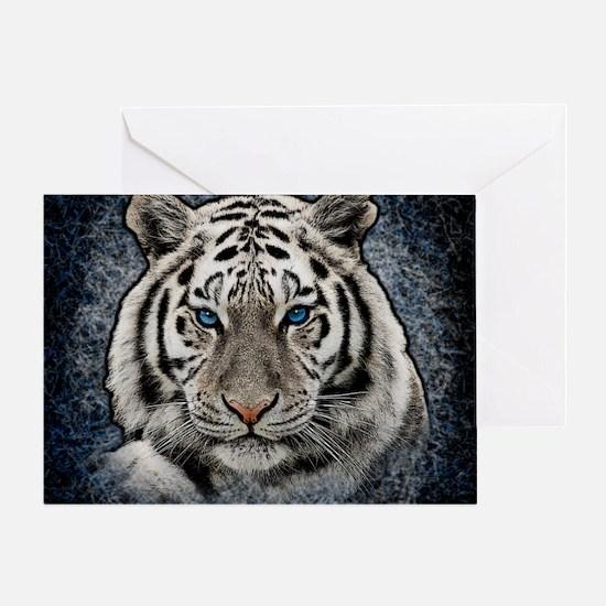 Cute White tiger Greeting Card