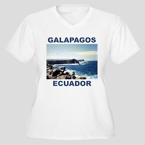 GALAPAGOS ECUADOR Women's Plus Size V-Neck T-Shirt