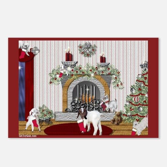Goat Christmas Littlest Stocking Kids Postcards (P