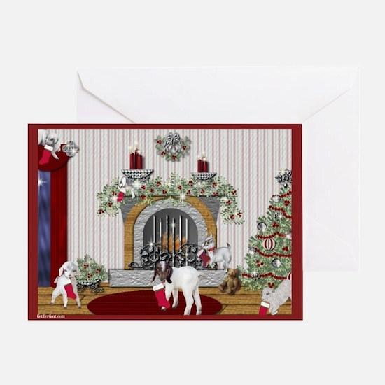 Goat Christmas Littlest Stocking Kids Greeting Car