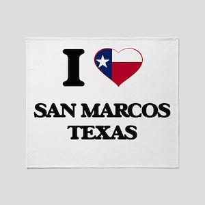I love San Marcos Texas Throw Blanket