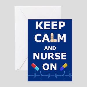 Nurses Day - Keep Calm And Nurse On Greeting Cards