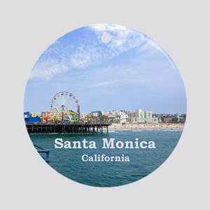 Santa Monica Ornament (Round)