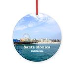 Santa Monica Ornament (Round)