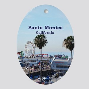 Santa Monica Ornament (Oval)